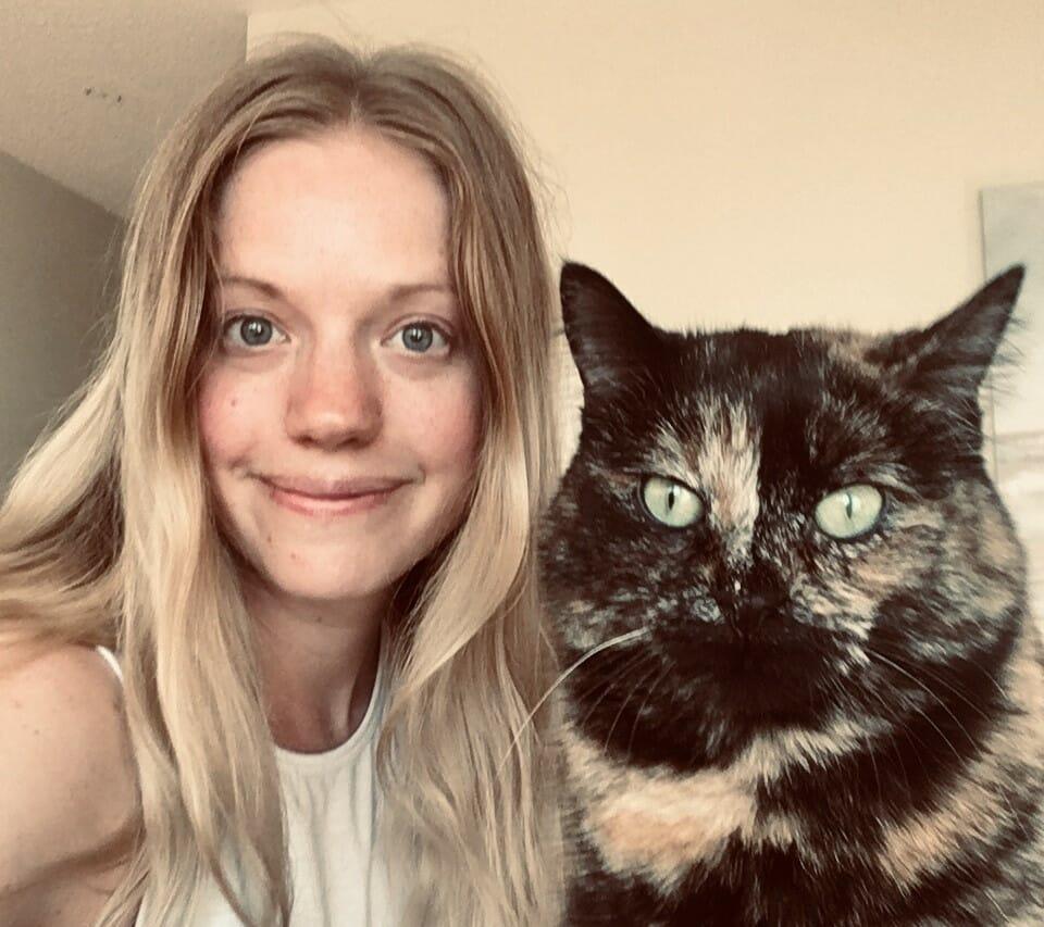 Nicole with cat
