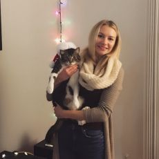 Danielle Valiquet holding Rayna the cat
